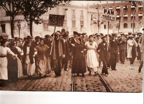 Manifestació obrera a València (s.XIX o principis del s.XX)