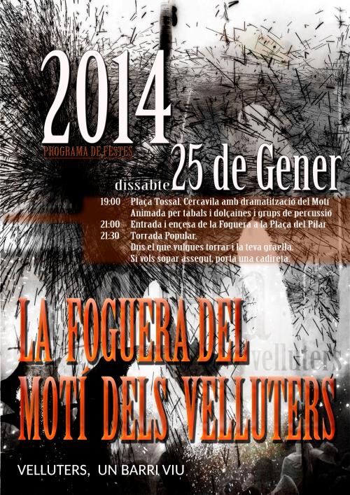 cartell amb programa del Motí dels Velluters